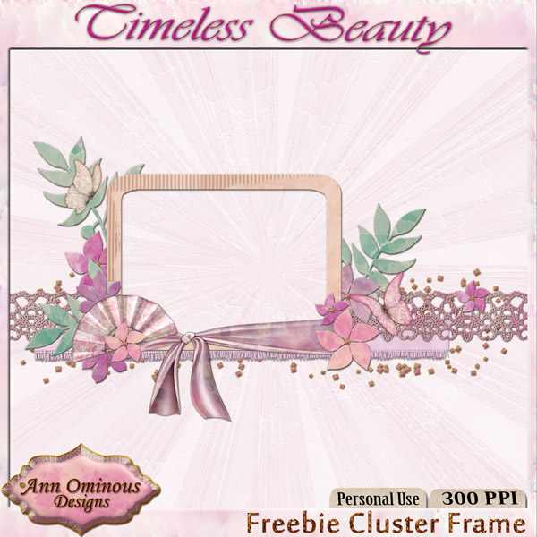 Timeless Beauty Cluster Frame Freebie