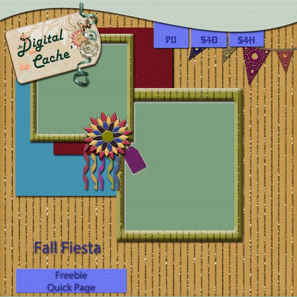 Fall Fiesta Quick Page Gift